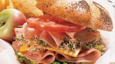 Honey-Mustard Ham Stacks
