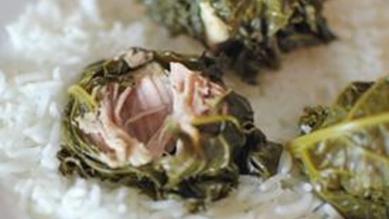 Kale-Wrapped Steamed Pork (LauLau Inspired)