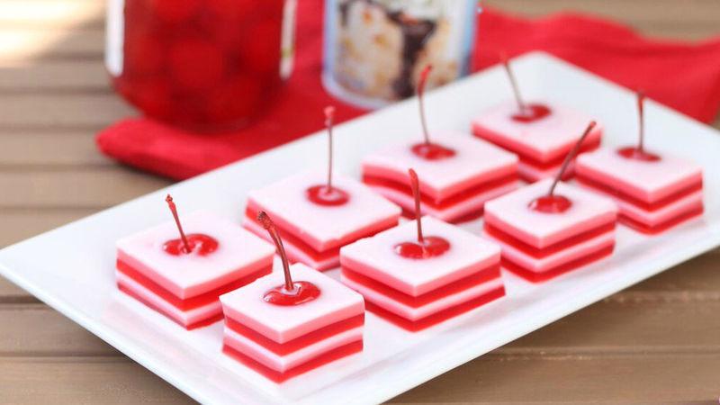 Cherry Cream Jello Shots