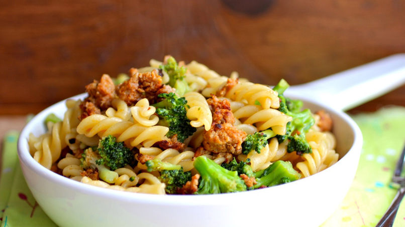 Pasta with Broccoli y Chorizo