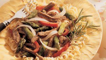 Lamb and Asparagus Stir-Fry