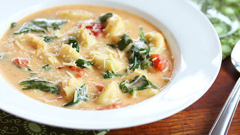Cheesy Slow-Cooker Tortellini Soup