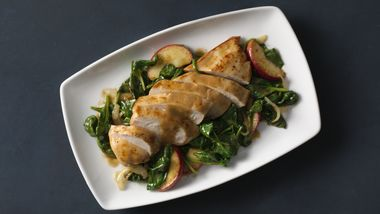 Seared Chicken Breasts with Apple-Dijon Sauce