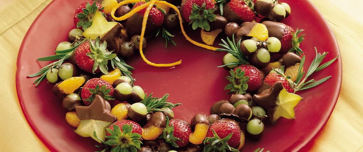 recipe for fruit dip fruit wreath
