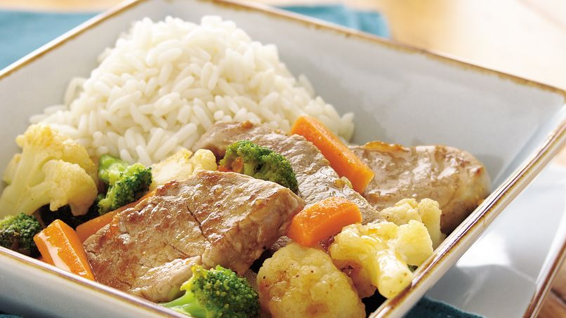 Apricot-Glazed Pork Dinner