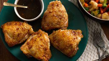 Soy-Brown Sugar-Glazed Chicken Thighs