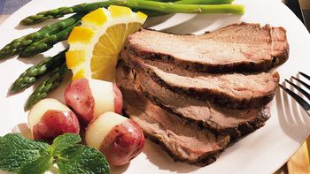 Grilled Herbed Leg of Lamb