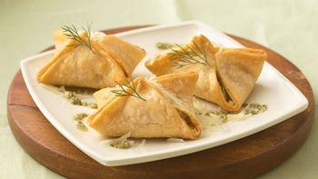 Salmon Pastries with Dill Pesto