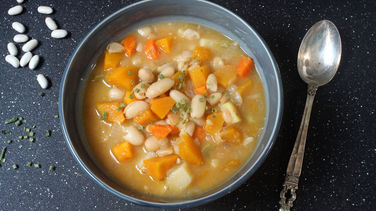 White Beans and Pumpkin Soup