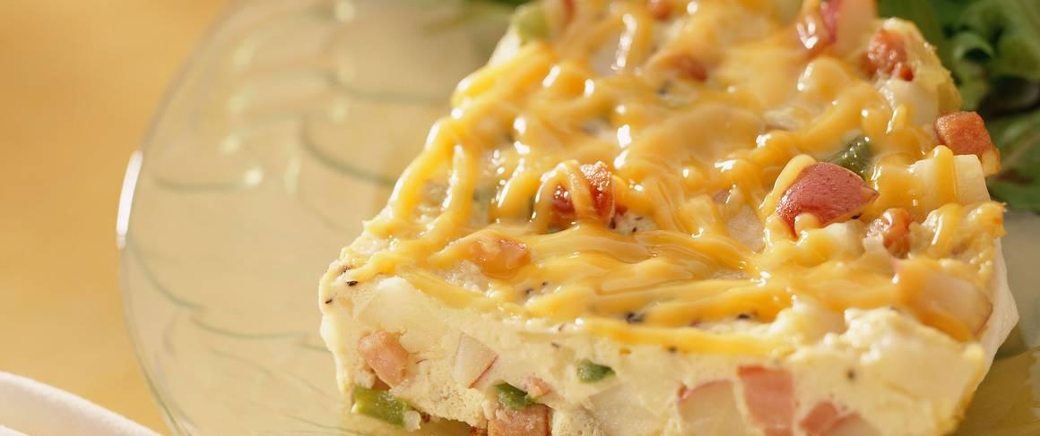 Gluten-Free Hickory Ham and Potato Frittata recipe from Betty Crocker