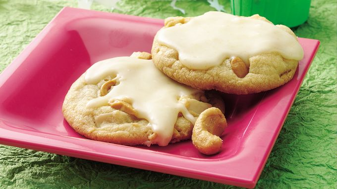 Quick Cashew Cookies with Brown Butter Icing