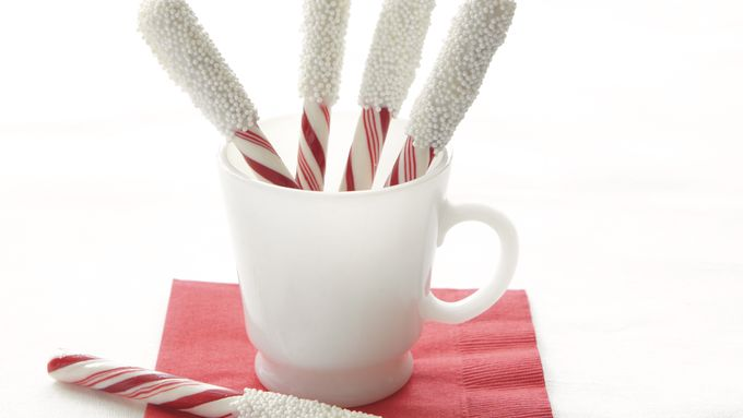 Snow-Capped Peppermint Sticks