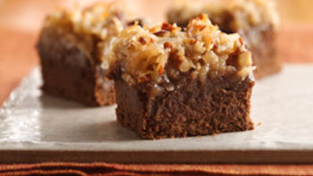 German Chocolate Saucepan Brownies
