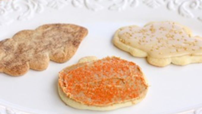 Sugar Cookies with Maple Frosting