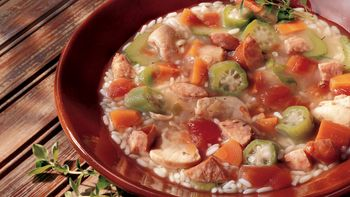 Slow-Cooker Chicken and Rice Gumbo Soup