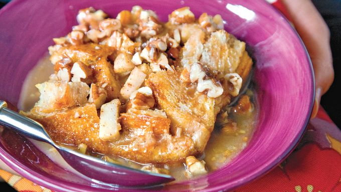 Spiced Caramel-Apple Bread Pudding
