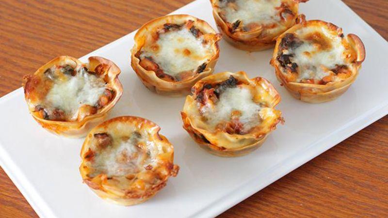 Vegetarian Lasagna Cupcakes