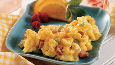 Ham and Vegetable Scrambled Eggs