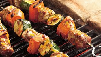 Sweet and Sour Grilled Swordfish Kabobs recipe - from Tablespoon!