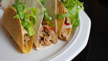 Slow-Cooker Beer Chicken Tacos