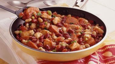 Sausage and Bean Skillet Stew