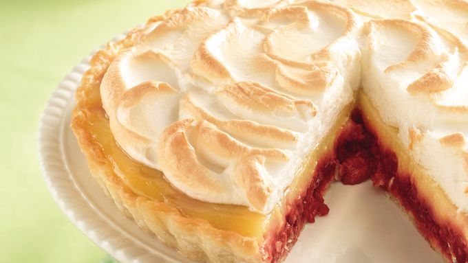 Raspberry-Lemon Meringue Tart