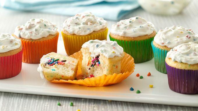 Rainbow Surprise Cupcakes