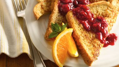 Whole-Grain Raspberry French Toast