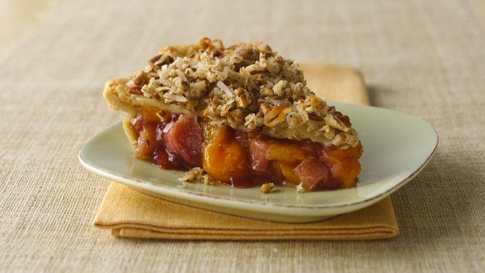 Peach-Rhubarb Pie
