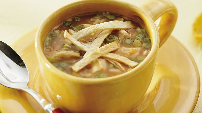 Southwestern Chicken Rice Soup