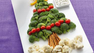 Platón de Verduras Árbol de Navidad