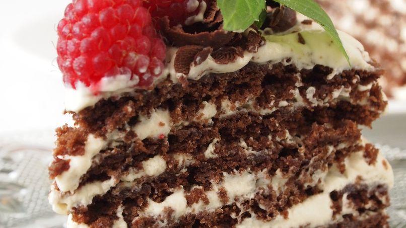 Chocolate Bruselina with Dulce de Leche Cream