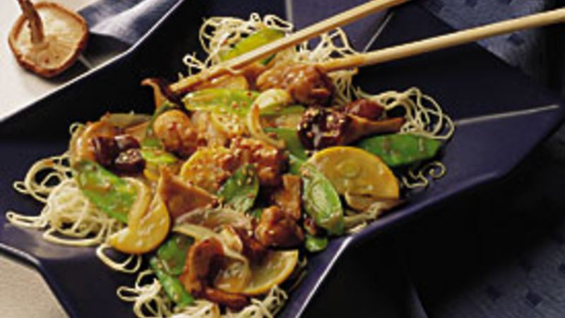 Sesame Chicken Stir-Fry with Mushrooms