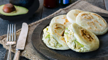 Arepas with Venezuelan Chicken Salad