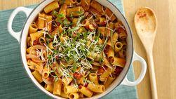 Pasta Vegetariana Saludable con Salsa Picante de Tomate