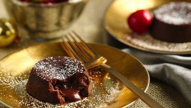 Chocolate Cherry Mini Lava Cakes