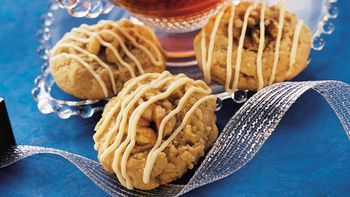 Walnut-Topped Ginger Drops