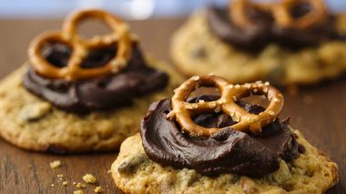 Beer and Pretzel Chocolate Chip Cookies