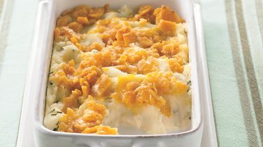 Cheesy-Topped Mashed Potato Casserole