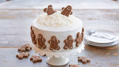 Holiday Gingerbread Cookie Cake