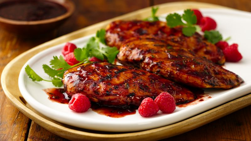 Grilled Chicken with Raspberry Chipotle Glaze recipe - from Tablespoon ...
