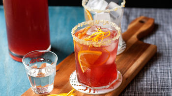 Fizzy Ginger-Cranberry Punch