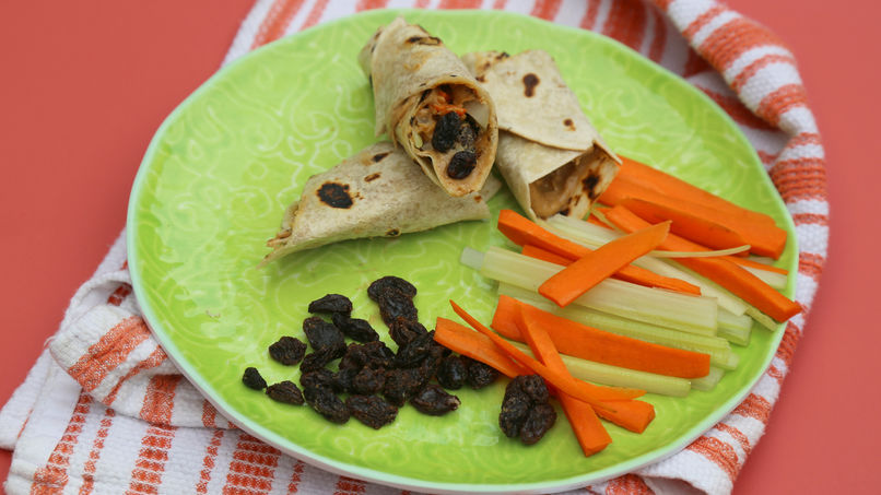 Wraps de Crema de Cacahuate y Verduras