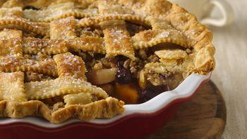 Blueberry-Apple-Peach Pie