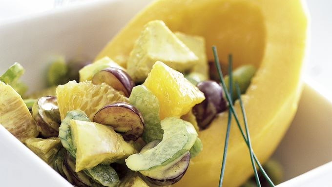 Skinny Curried Chicken Salad with Jicama