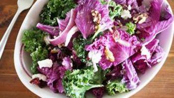 Kale, Cherry and Walnut Salad