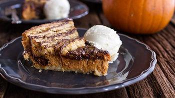 Nutella® Swirled Pumpkin Pie