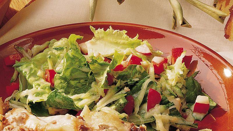 Tossed Salad with Apple Cider Dressing