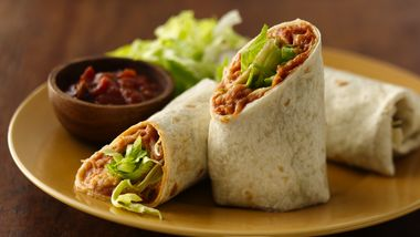 Refried Bean Roll-Ups