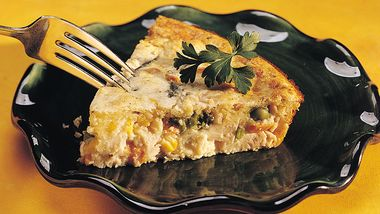 Impossibly Easy Turkey Ranch Pie